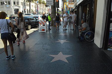 美国好莱坞星光大道图片