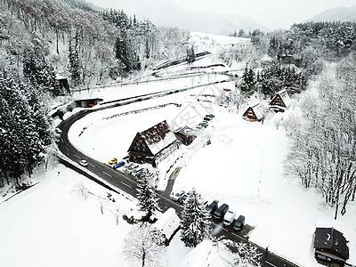 航拍日本白川乡图片