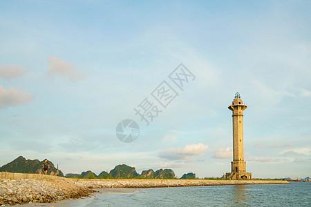 越南下龙湾下龙市海滨风光图片