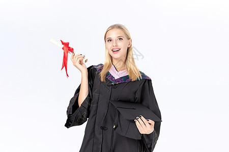 外国留学毕业图片