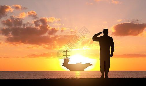 一个军人在夕阳下图片_抗战川军将士出川雕像在夕阳下的剪影高清图片下载-正版图片 ...