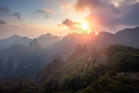 安徽黄山日出图片
