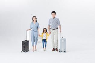 一家人一起去旅行旅游图片