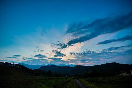 西岭雪山日出图片