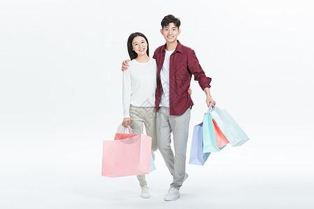 年轻情侣购物图片