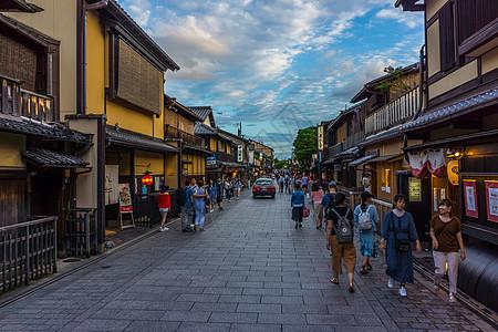 日本京都袛园花间小路图片
