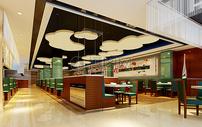 现代酒店餐厅效果图图片
