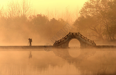 黄昏的杭州西湖图片