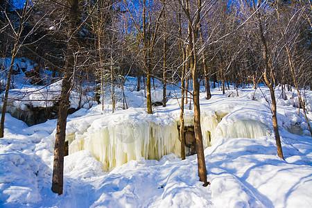 黑龙江雪乡洋草山雪瀑布图片