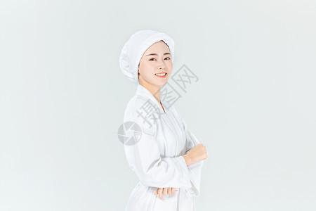 浴袍女生形象图片