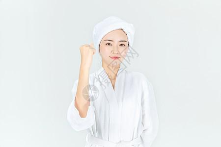 浴袍美女奋斗图片