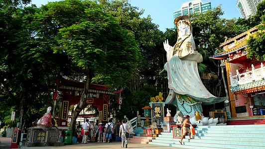香港浅水湾天后古庙图片
