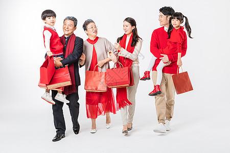 新春家庭开心购物图片