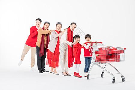 新春家庭置办年货图片