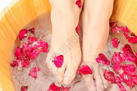 花瓣足浴图片