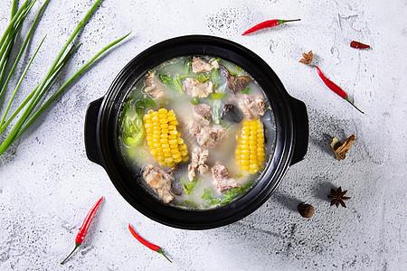砂锅玉米排骨汤图片