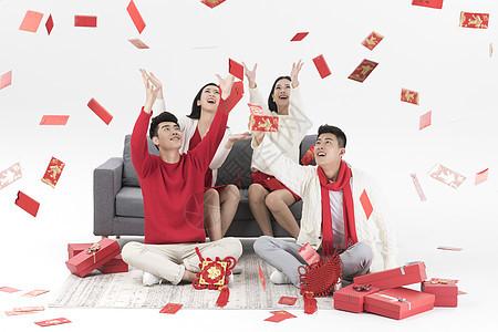 新年情侣抢红包图片