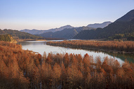 安徽青龙湖秋色图片