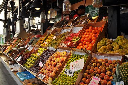 圣米盖尔市场水果摊图片