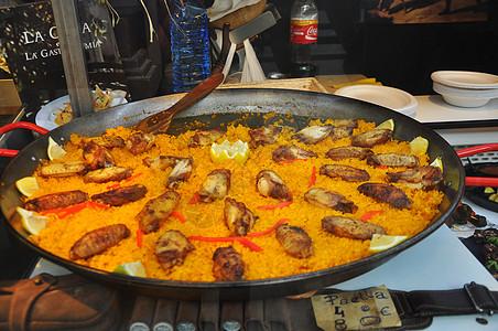 圣米盖尔市场西班牙海鲜饭图片