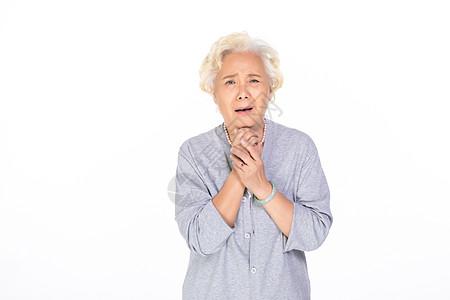 悲伤的老年人图片
