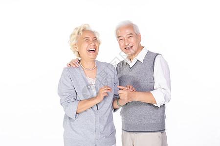 老年夫妇大笑图片