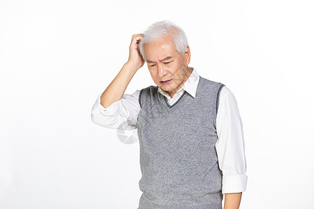 老人烦恼图片