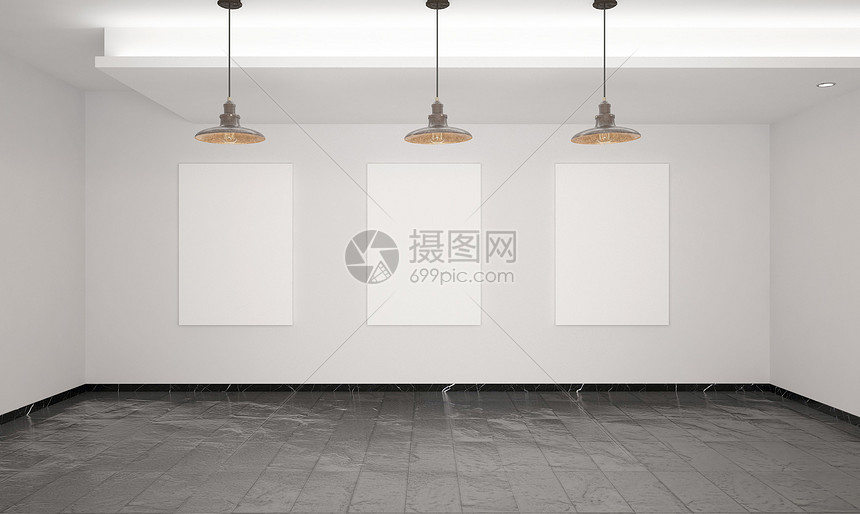 室内海报样机图片