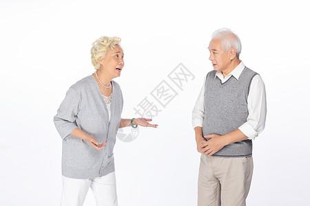 老人吵架形象图片