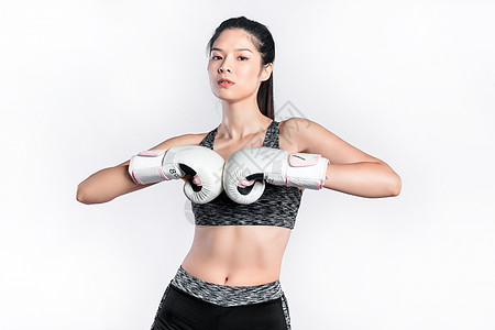 拳击手美女图片