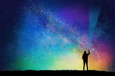 星空剪影图片
