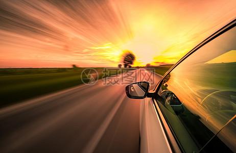 汽车速度感光效图片