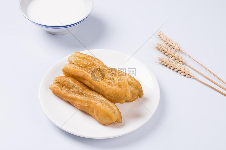 早餐油条豆浆图片