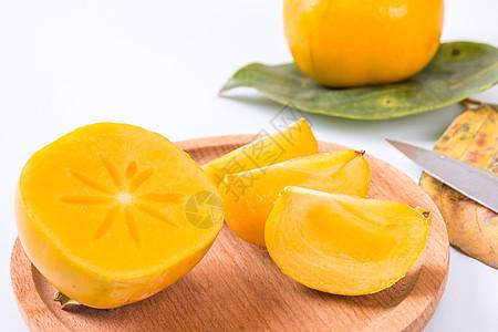 黄色的柿子图片