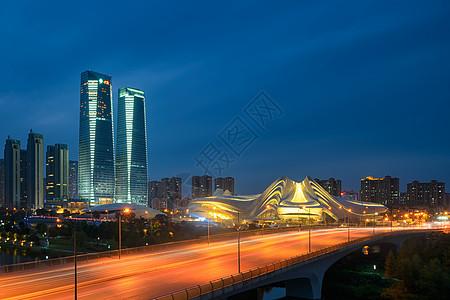 湖南长沙梅溪湖大剧院夜景图片
