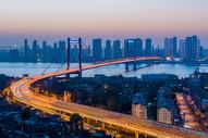 武汉鹦鹉洲长江大桥图片
