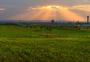 兰州新区的黄昏图片