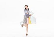 青年女性购物501070440图片