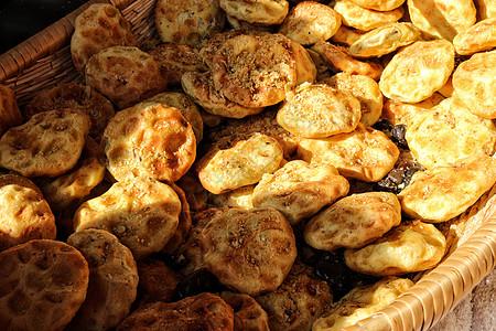 陕西传统名小吃石子馍图片