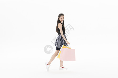 青年女性购物图片
