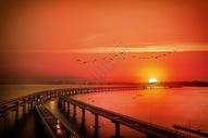 日出日落图片