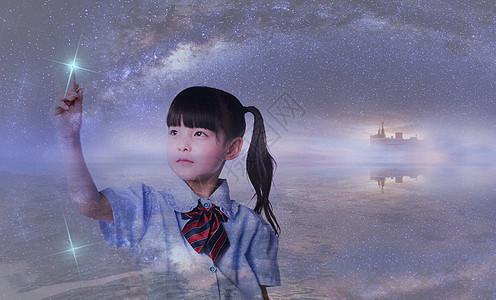 幻想小女孩图片