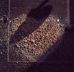 美国西雅图口香糖墙图片
