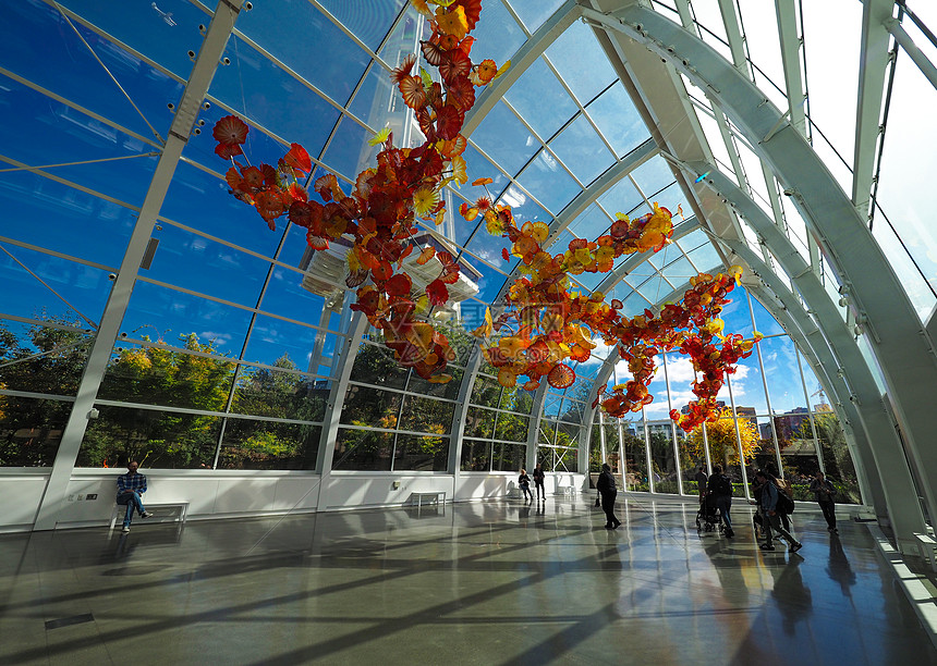 美国西雅图奇胡利玻璃艺术园图片
