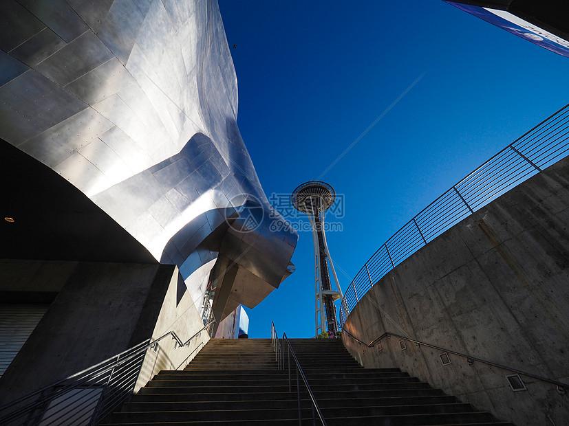 西雅图太空针塔图片