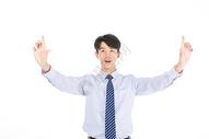 科技商务男士触摸形象501072037图片
