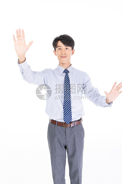 科技商务男士触摸形象图片