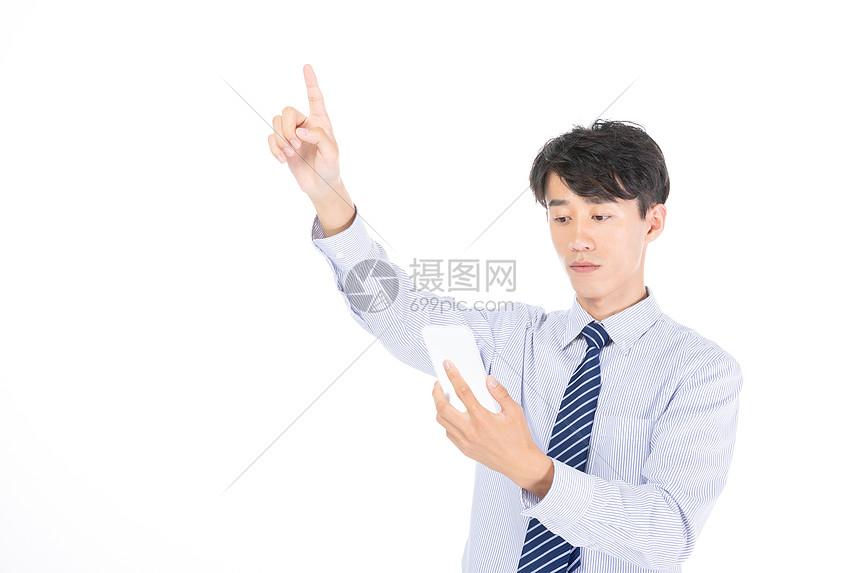 科技商务男士点击图片