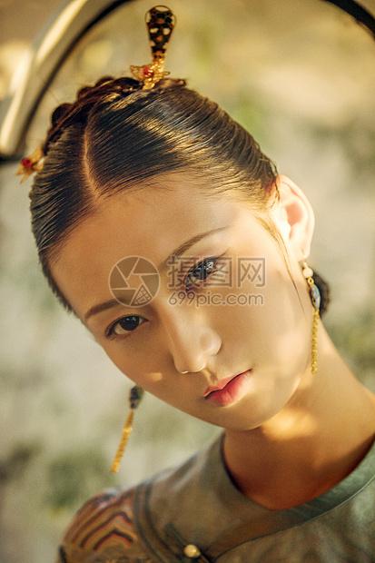 古风美女旗袍图片