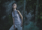 竹林中的古风美女图片